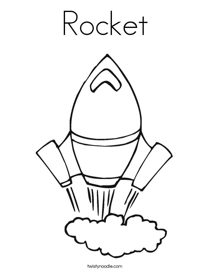 685x886 Rocket Coloring Page