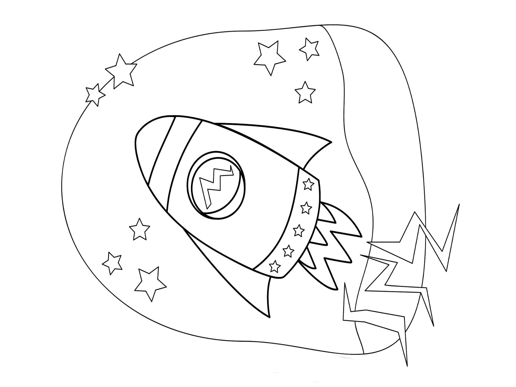 Rocket Coloring Pages For Kids