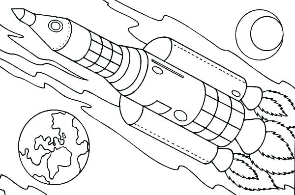 600x397 Space Ship Coloring Pages Space Ship Coloring Page Rocket Coloring