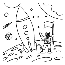 230x230 Top Free Printable Astronaut Coloring Pages Online