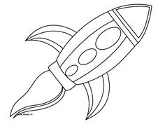 236x177 Rocket Coloring Page For Preschool Days Of Healthy Family