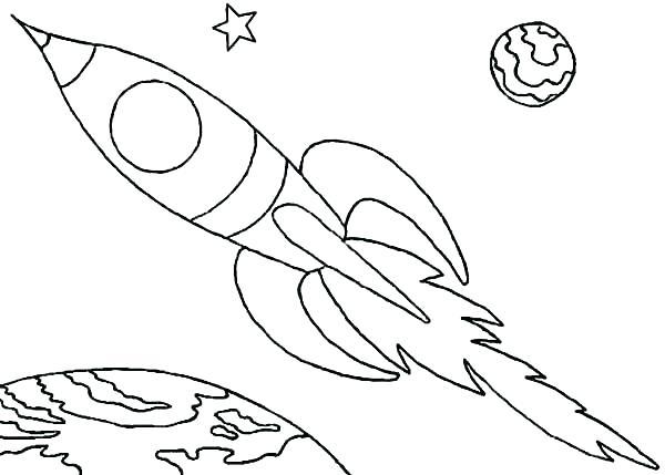 600x429 Rocket Coloring Sheet