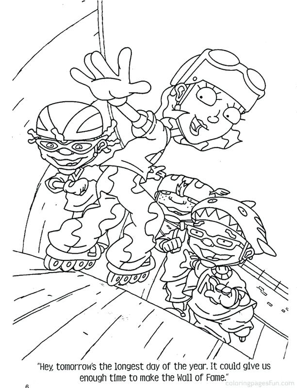 612x800 Rocket Power Coloring Pages Coloring Page Rocket Power Cartoons