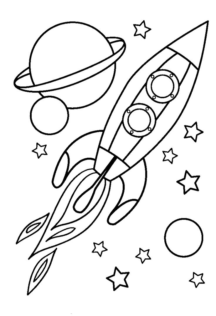 Rocket Ship Coloring Page