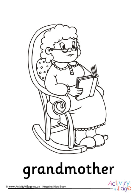 460x651 Grandparents' Day Colouring Pages