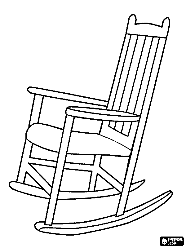 600x800 Chair Coloring Page
