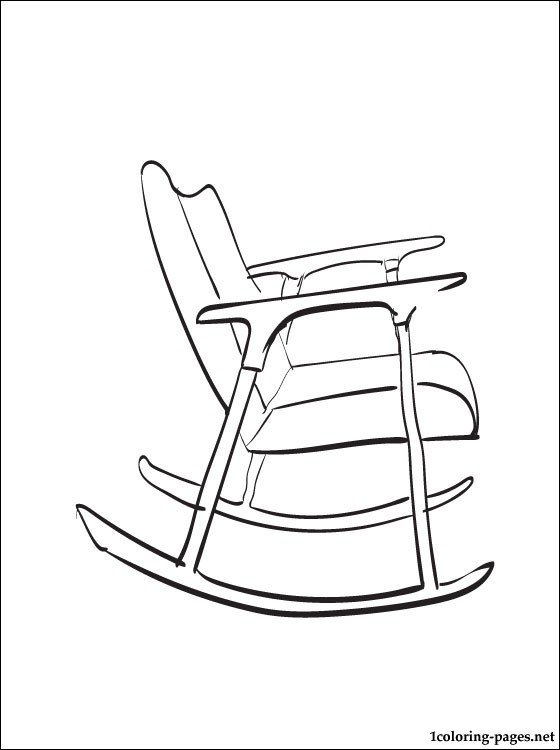 560x750 Rocking Chair Coloring Page Coloring Pages