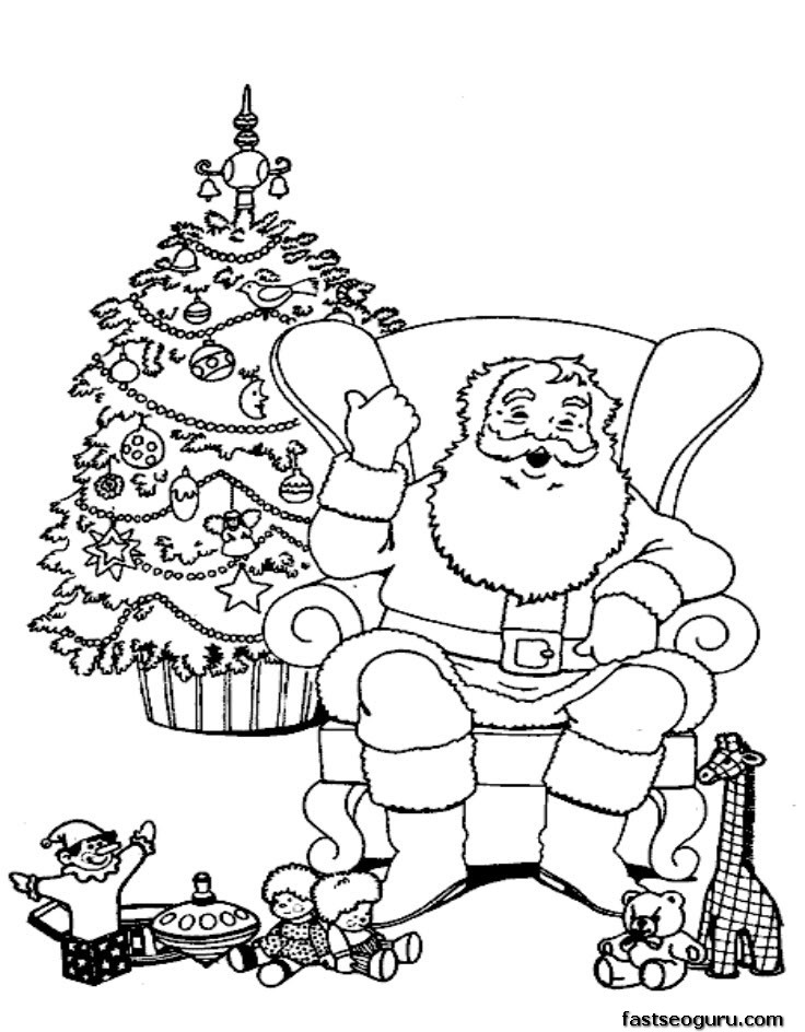 736x944 Coloring Pages Of Santa Claus Many Interesting Cliparts
