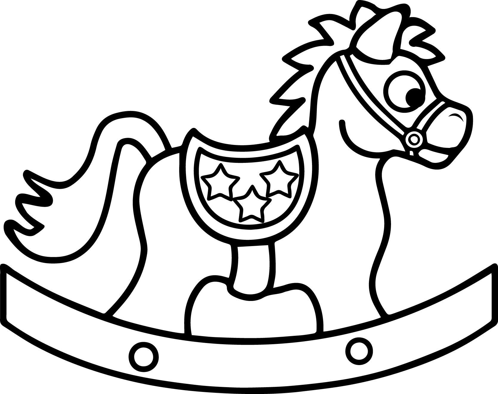 Rocking Horse Coloring Pages at GetDrawings.com | Free for ...