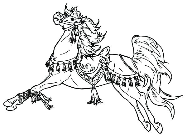 600x438 Carousel Horse Coloring Page Horse Pages To Color Carousel Horse