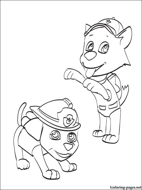 560x750 Marshall And Rocky Coloring Page Coloring Pages