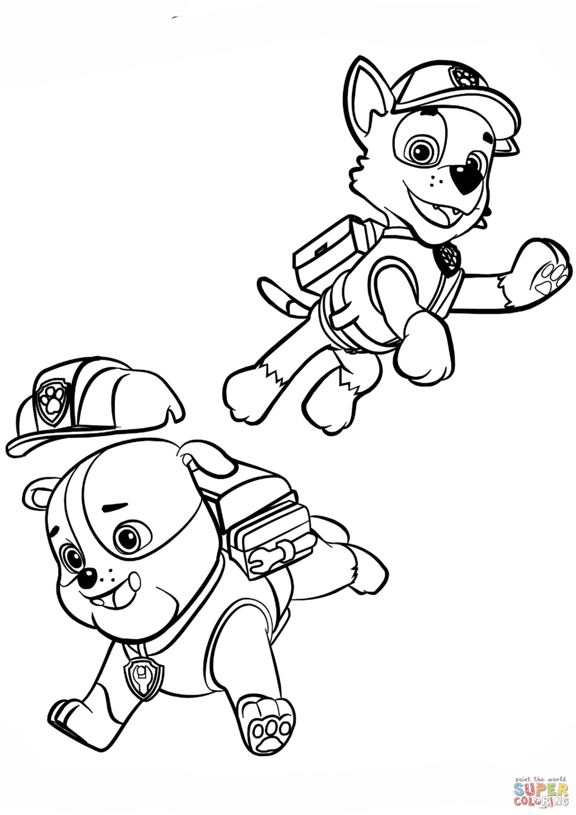 1920x2715 Odd Rubble Paw Patrol Coloring Page And Rocky