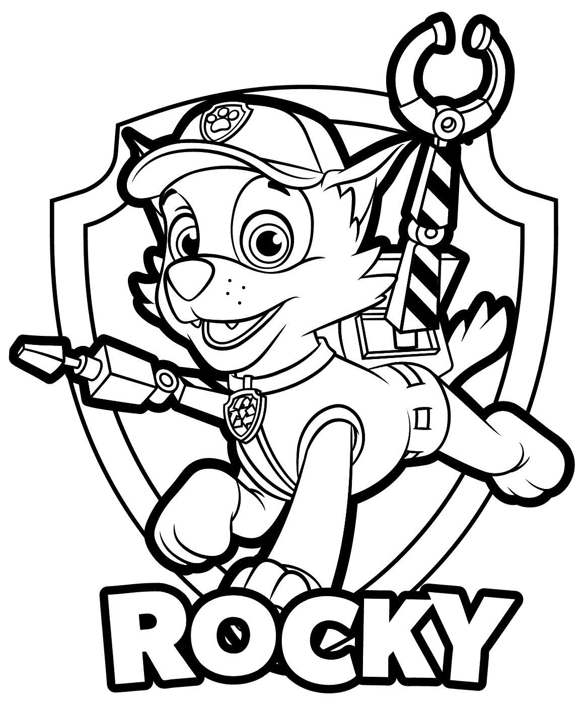 1160x1400 Paw Patrol Rocky Coloring Pages