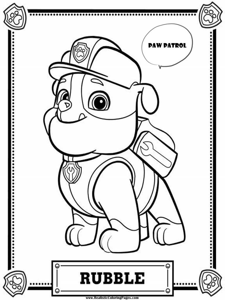 768x1024 Paw Patrol Rocky Coloring Pages Beautiful Rubble Page