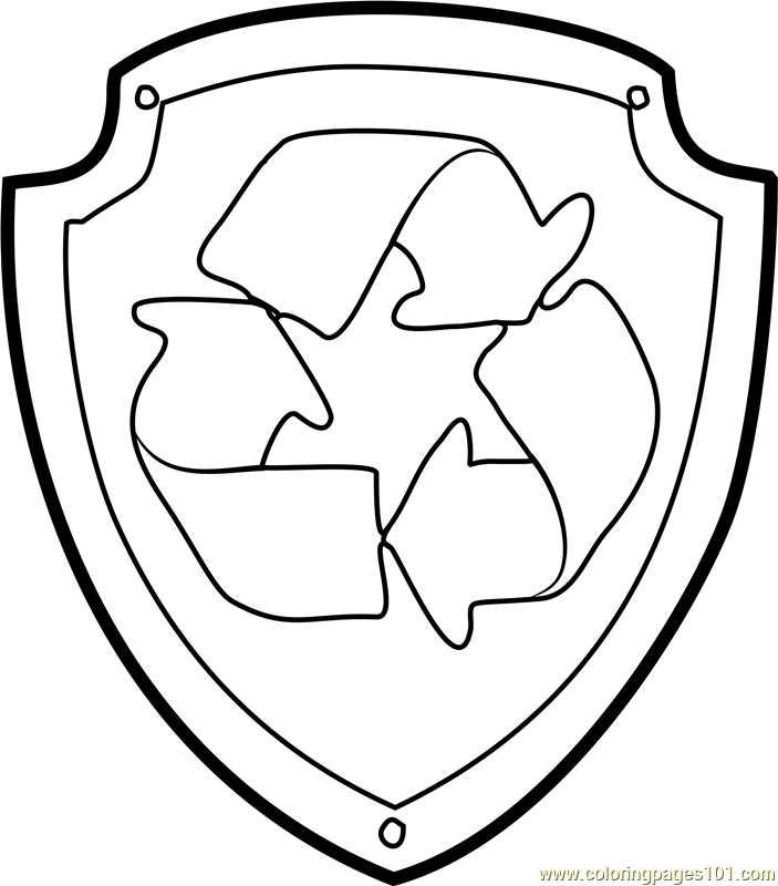 703x800 Rocky Badge Coloring Page