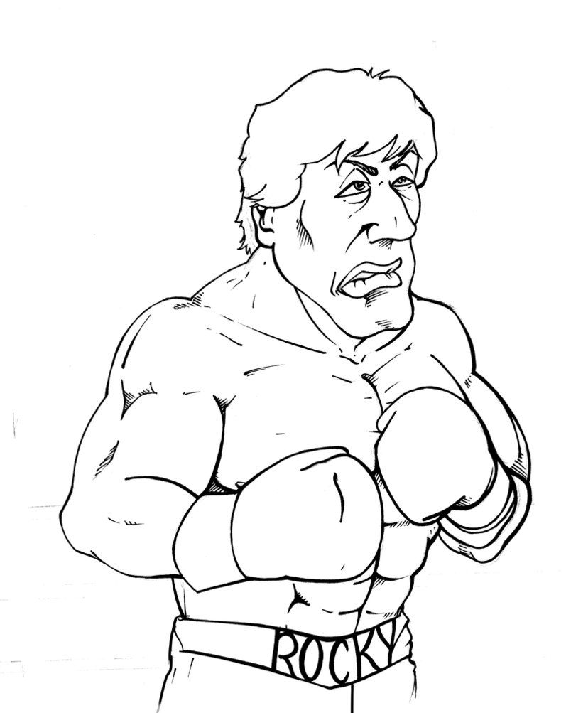 797x1003 Rocky Coloring Pages For Favors Cash's Birthday Favors
