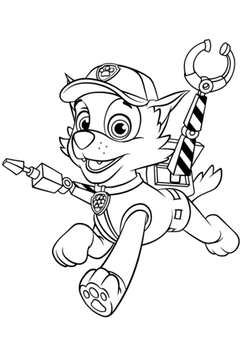 339x480 Rocky With Claws Coloring Page From Paw Patrol Category Select