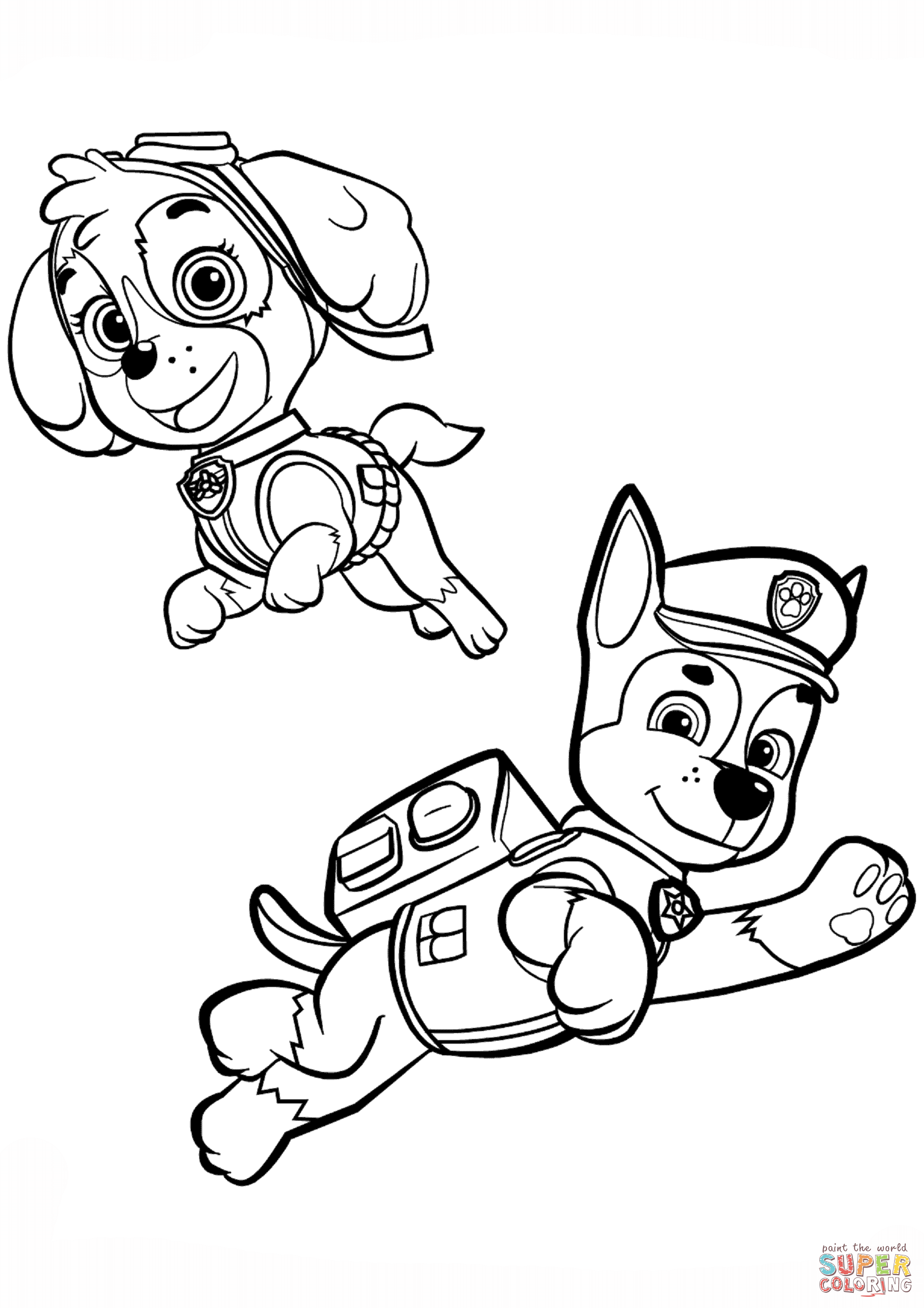 1827x2583 Urgent Skye Coloring Pages Paw Patrol Rocky