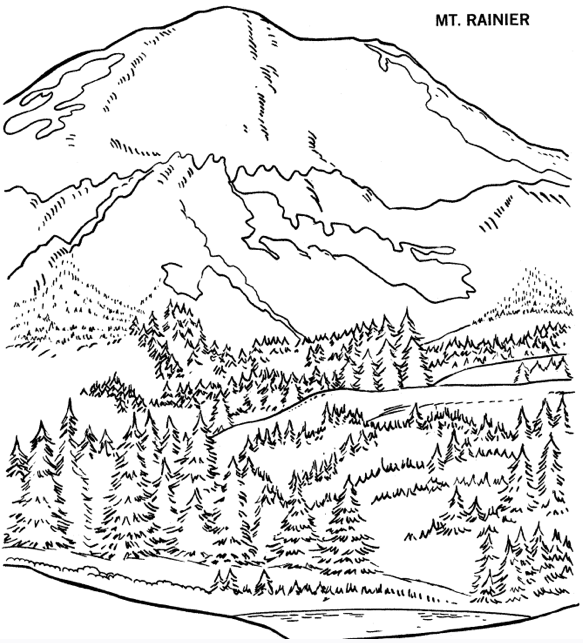 583x643 Free Coloring Pages Of Mountains