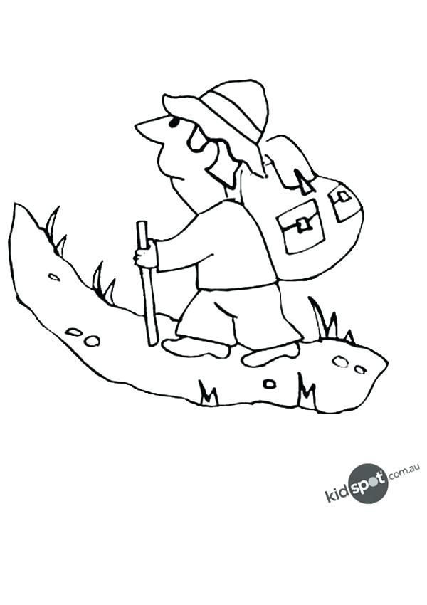 600x850 Mountain Coloring Page Mountain Coloring Sheet Mountain Climber