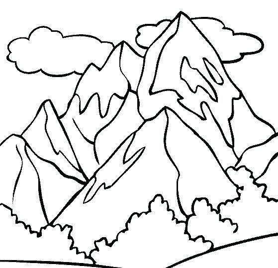 559x539 Mountain Coloring Pages Mountain Top Coloring Page Rocky Mountain