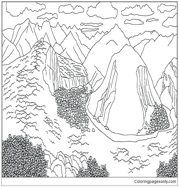 613x639 Coloring Mountains Coloring Pages Mountains Mountains Coloring