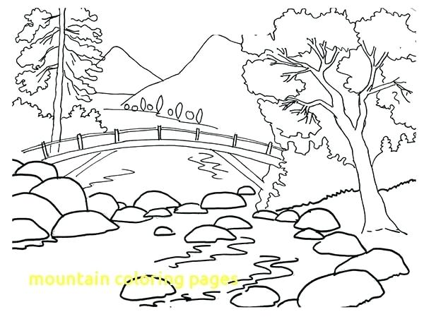 600x452 Mountains Coloring Page Mountain Coloring Pages With Mountain