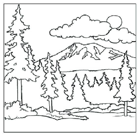 564x551 Mountains Coloring Page Mountain Goat Coloring Pages For Kids