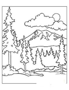 236x306 Printable Mountain Coloring Page Free Pdf Download