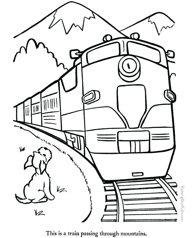 670x820 Coloring Pages Of Mountains Coloring Pages Of Mountains Train