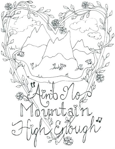 400x518 Coloring Pages Of Mountains Mountain Coloring Page Mountains