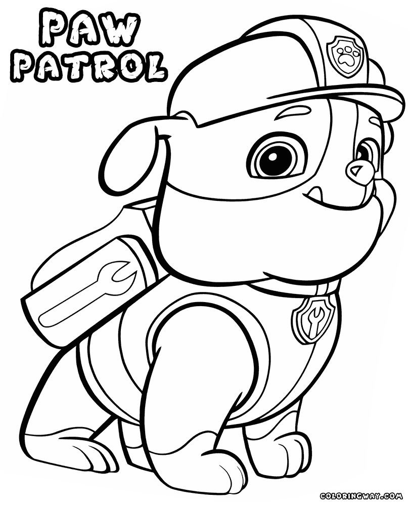 Rocky Paw Patrol Coloring Page At GetDrawings