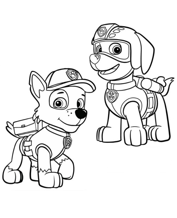 Rocky Paw Patrol Coloring Pages At Getdrawings Com Free