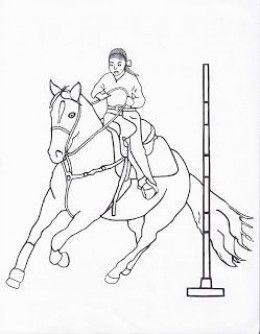 260x334 Free Printable Rodeo Coloring Pages Cowboycowgirl Kids