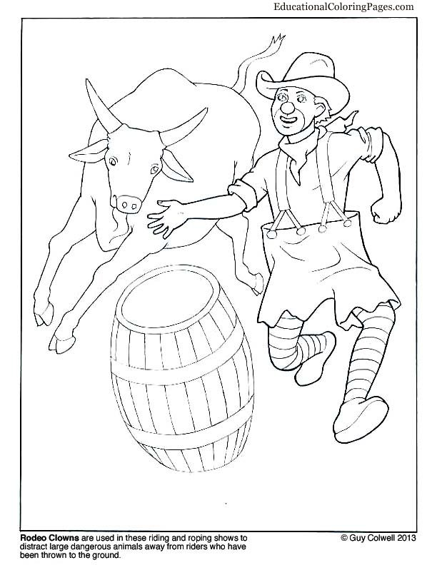 612x792 Rodeo Clowns Chrissy Rodeo And Outlines