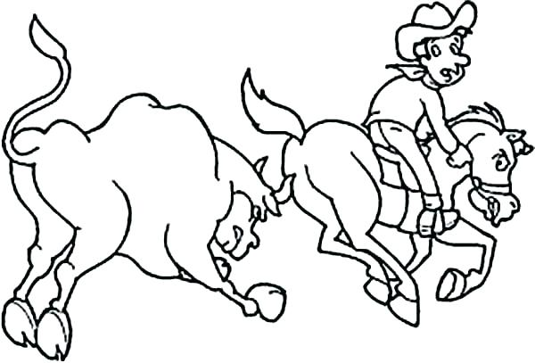 600x407 Rodeo Coloring Pages Cowgirl Doing Circus Horse Coloring Page