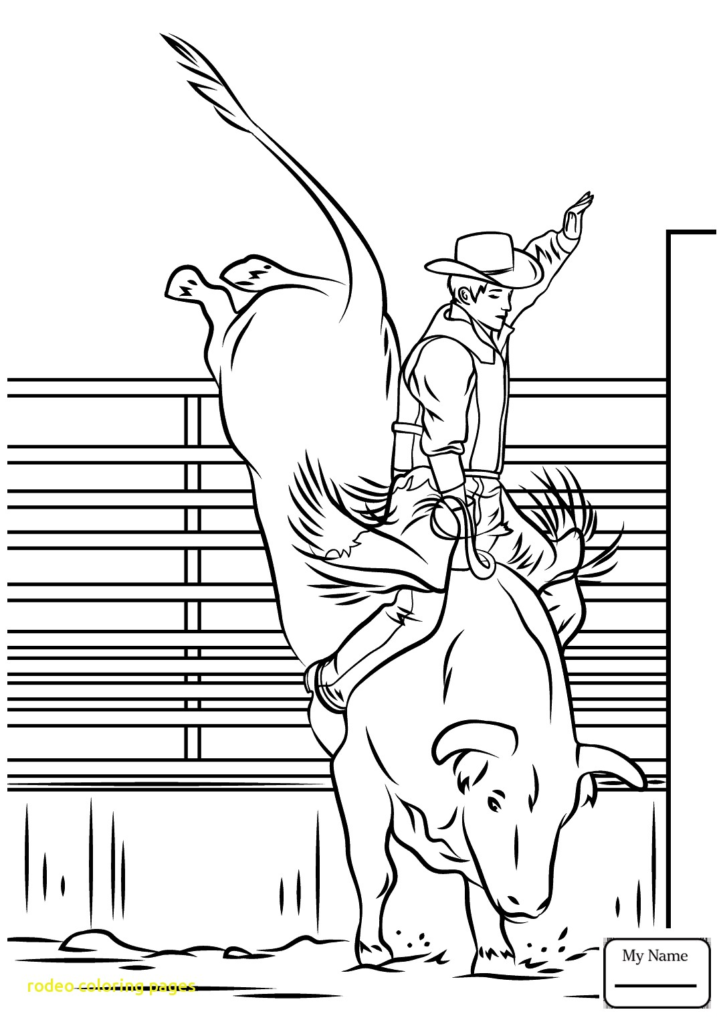 723x1024 Rodeo Coloring Pages With Free Printable Great Bull Riding