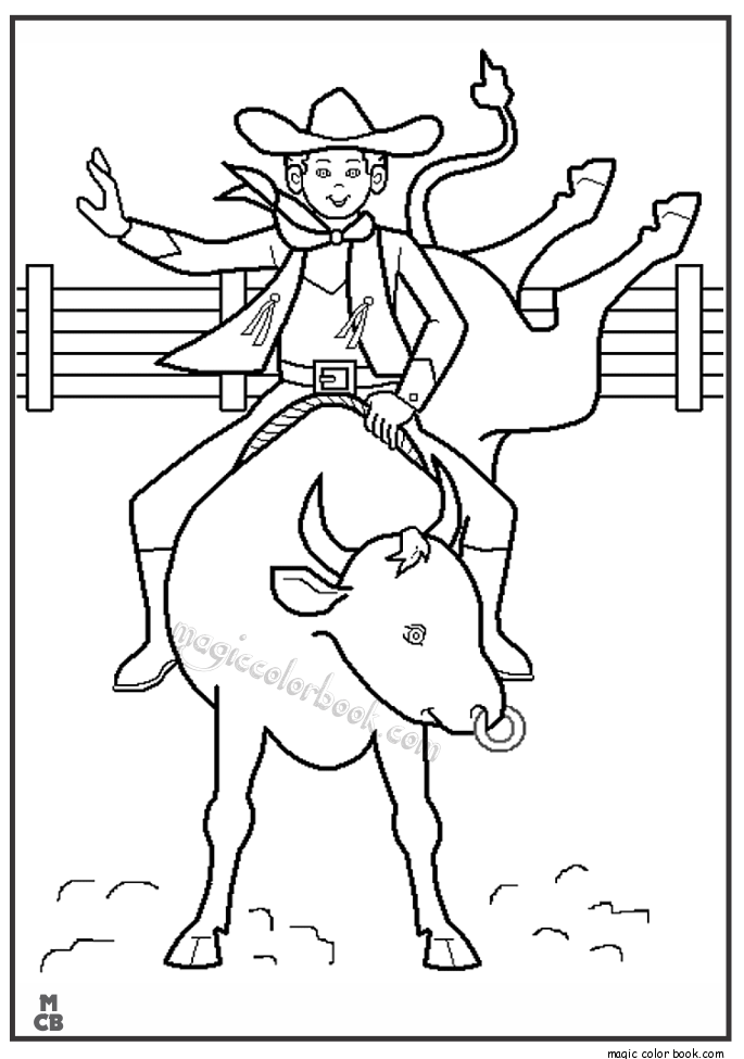 685x975 Cowboy Rodeo Coloring Pages