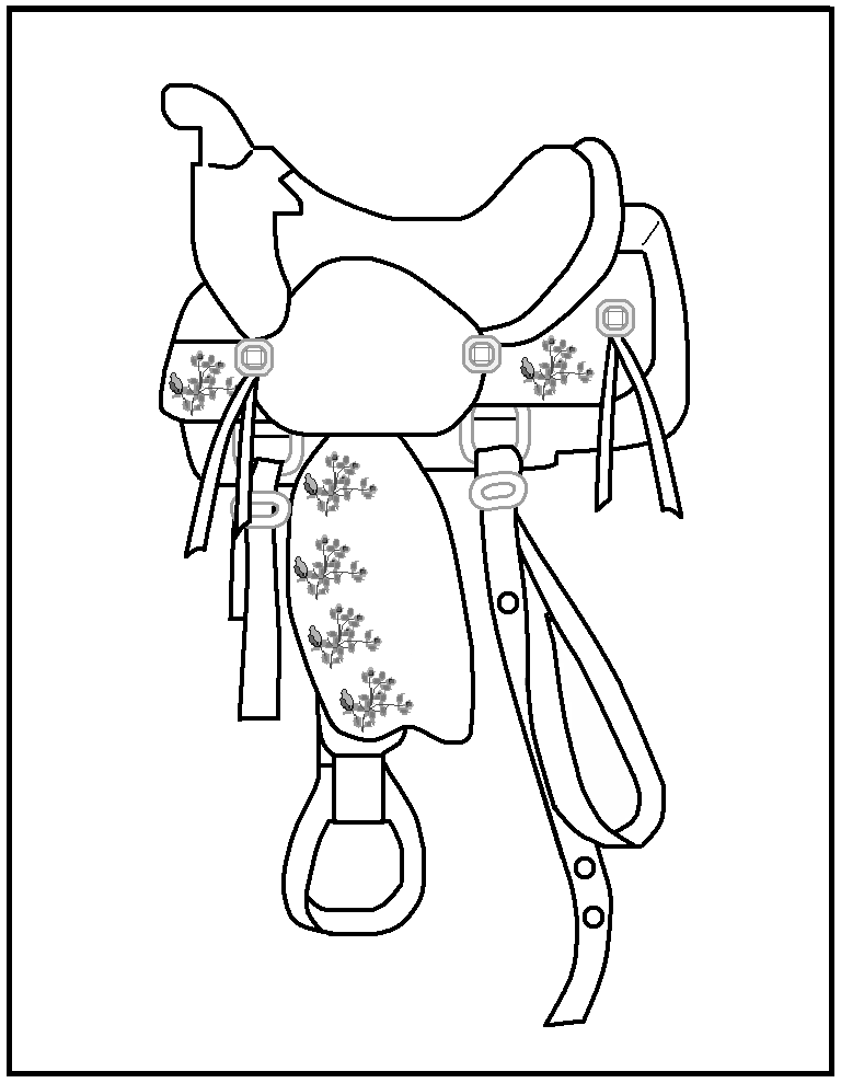 768x989 Free Printable Rodeo Coloring Pages Page