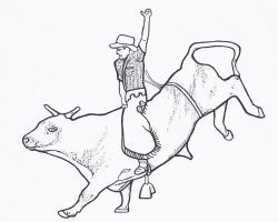 250x200 Free Printable Rodeo Coloring Pages Free Fun Rodeo