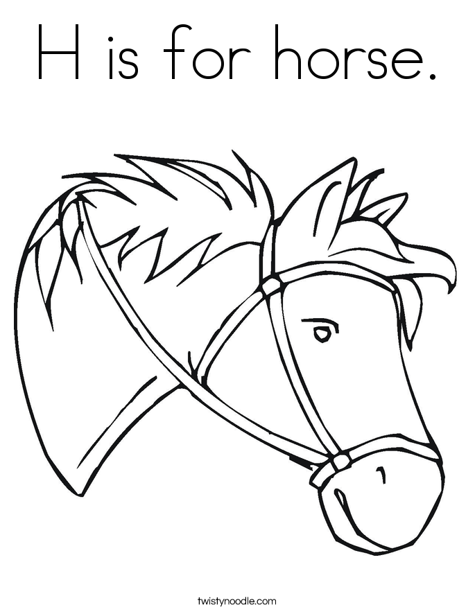 685x886 H Is For Horse Coloring Page