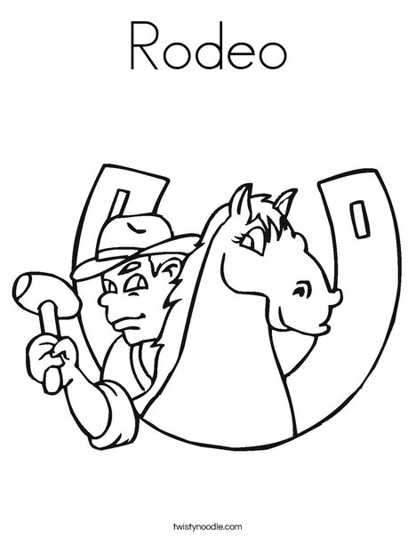 468x605 Rodeo Coloring Page