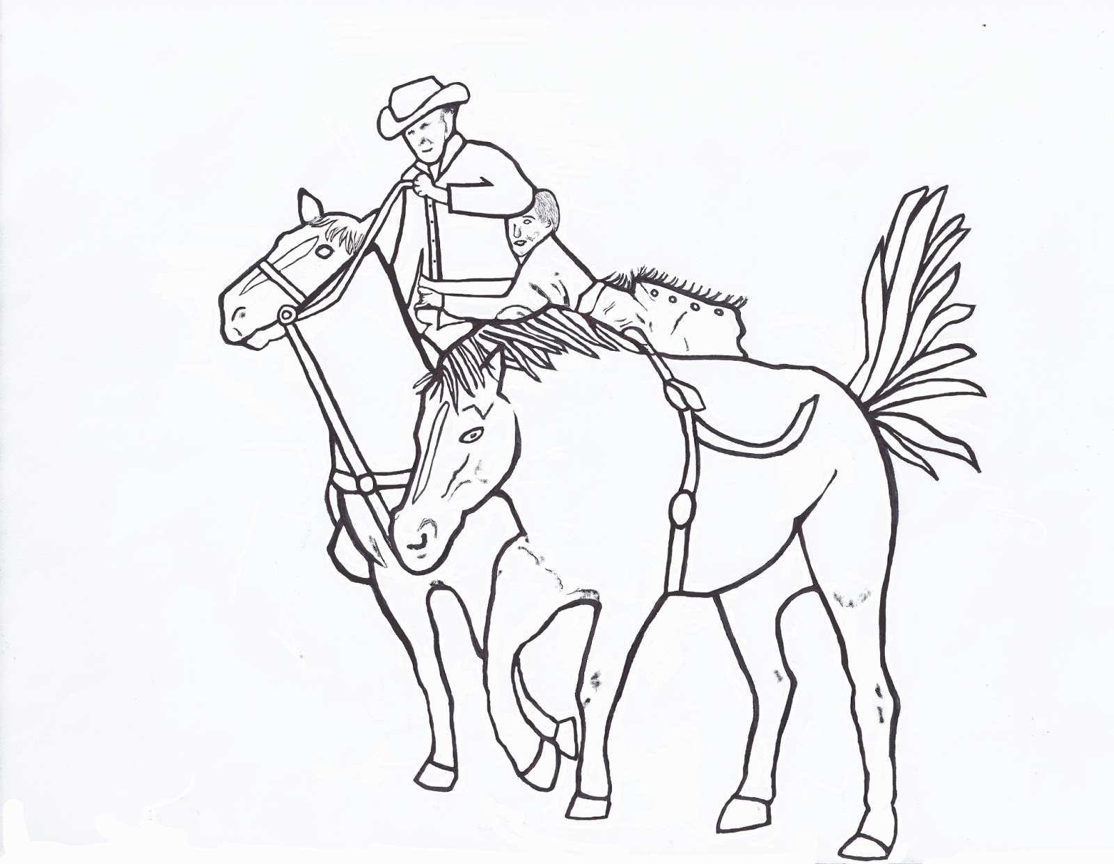 1600x1241 Awesome Miniature Bucking Bull Coloring Page Of Rodeo Styles