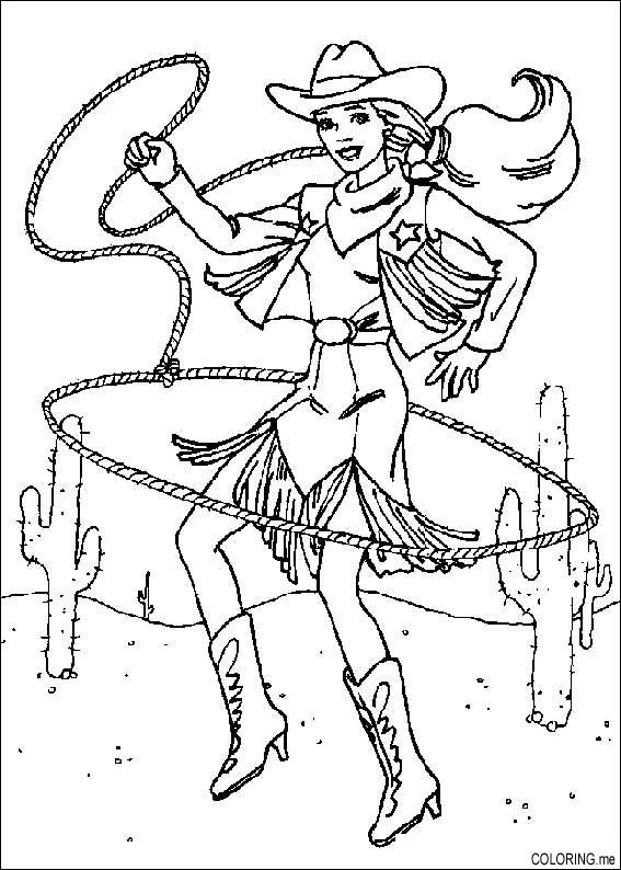 567x794 Rodeo Coloring Pages Coloring Page Barbie Rodeo Rope Coloring