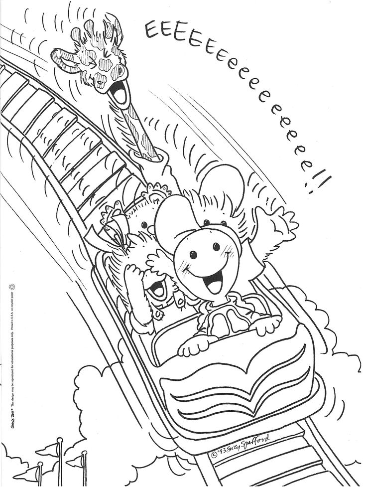 Roller Coaster Coloring Pages