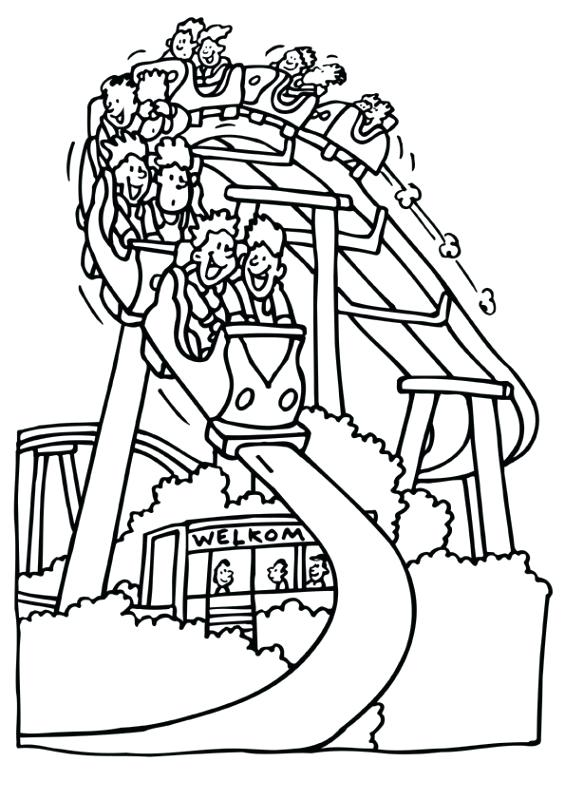 565x800 Coloring Pages Pdf Roller Coaster The Best Free View