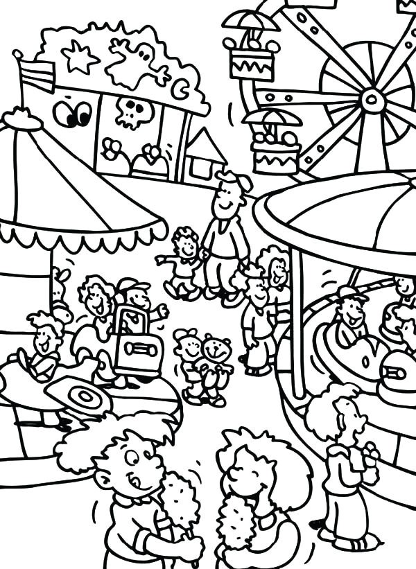 600x821 Lovely Carnival Rides Coloring Pages Coloring Ws