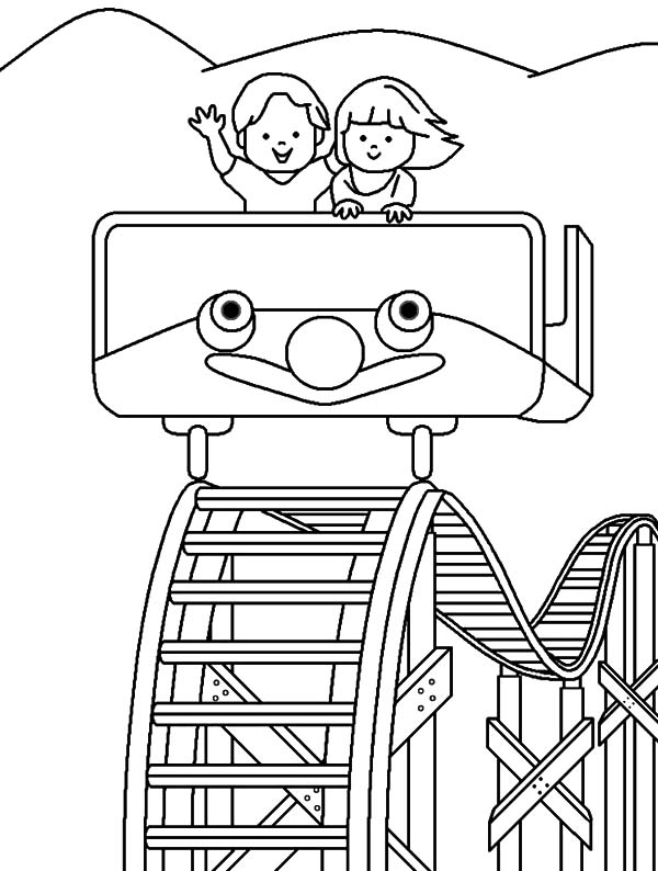600x794 Roller Coaster Carnival Coloring Pages Best Place To Color