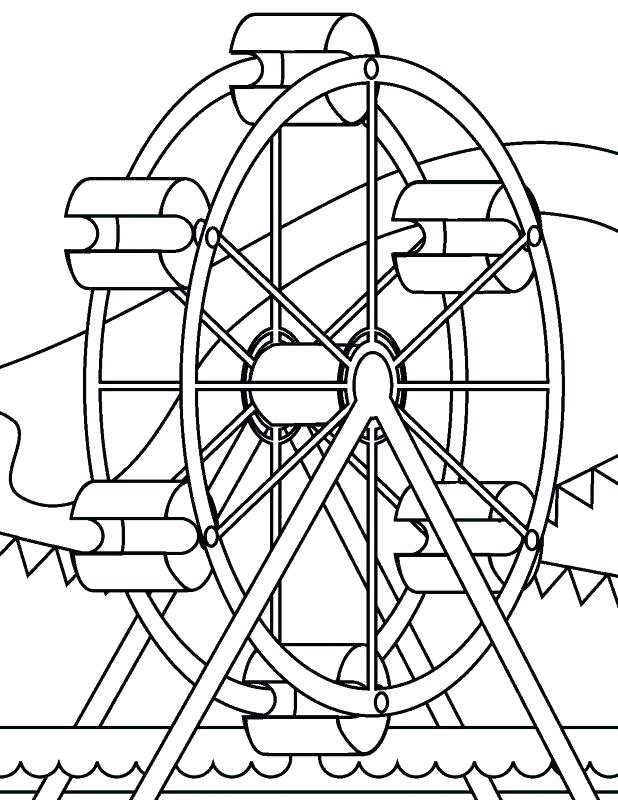618x800 Amusement Park Coloring Pages Roller Coaster Coloring Page Free