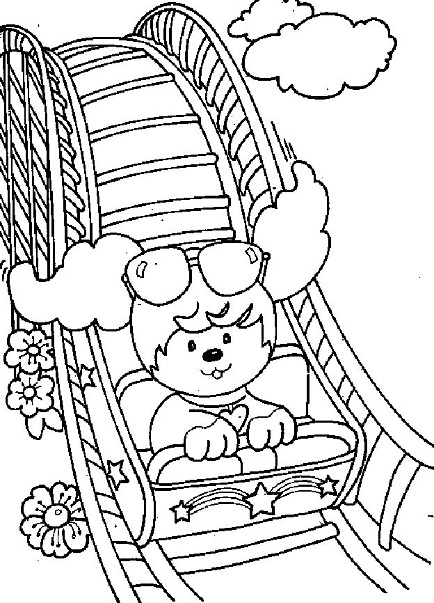 624x866 Roller Coaster Coloring Pages Download And Print For Free
